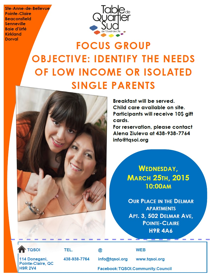 single parent focus group